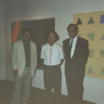 Hitoshi Nakazato photographed with Takeshi Matsumoto (Tokyo Gallery art   dealer)