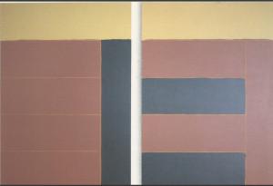 Coe    Oil + acrylic  214 cm X 173 cm  (each)     1985