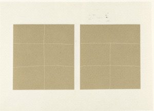 Kuba  Aluminum oxide sand, conte on Arches paper  1977