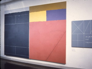La Managua Consigna 1987 Acylic, oil on canvas 213cm X 328cm (two panels) One Fourth and One Fourth 1987 Acrylic, oil on canvas 87cm X 81cm