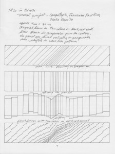 Drawing of concept for the mural from Conceptual Sketches – A Chronology of Exploration by Hitoshi  Nakazato 1994