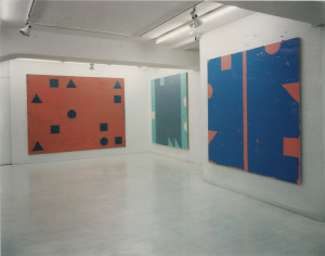 1997TG – (left to right) Line Out-side, H. Diptych B, 1996; Pistachio Green LOSM, 1995; Line Outside ZN96, 1996