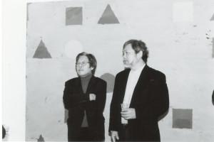 Left Yusuke Nakahara, art critic, Right Hitoshi Nakazato