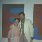 Photographed with Kate Sander (widow of New York painter Ludwig Sander  visiting Japan)