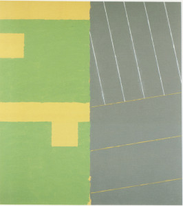 Stairs at Quai, White/Yellow Line  Oil + Acrylic on Cotton  224cm X 221cm     1993