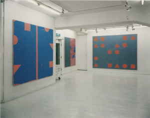 (left to right) Line Out-side ZN96, 1996; Gaistill LOSB, 1996; Line Outside, H. Diptych A, 1996
