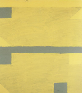 Vkhutein Courtyard, Gray/Yellow  Oil + Acrylic on Cotton  224cm X 198cm    1993